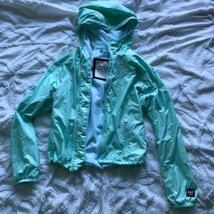 Abercrombie and Fitch mint green raincoat NWOT